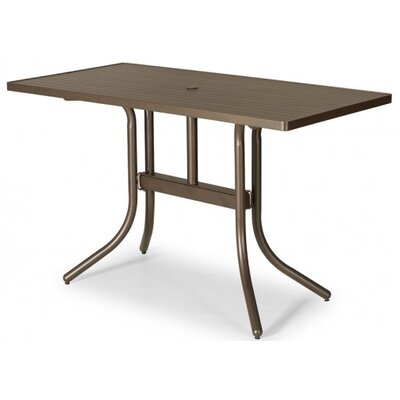 Aluminum Slat 60 Rectangular Bar Table