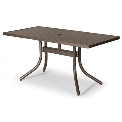 Aluminum Slat 60 Rectangular Dining Table