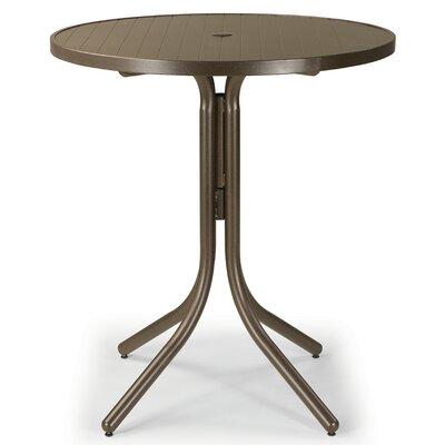 Aluminum Slat 36 Round Dining Table