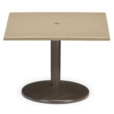 Werzalit Square Spun Pedestal Dining Table