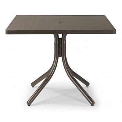 Aluminum Slat 36 Square Dining Table