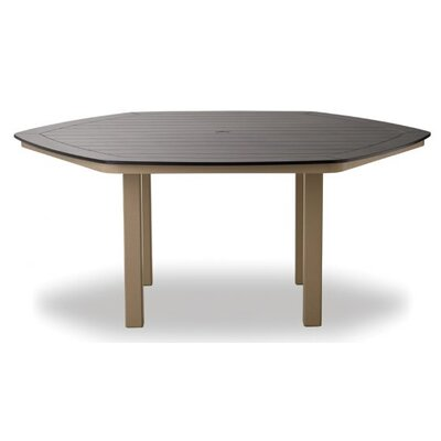 Aluminum Slat Hexagonal Dining Table