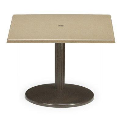 Werzalit Square Spun Pedestal Chat Table