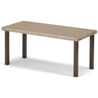 Synthestone Coffee Table Base Finish: Textured Silver, Top Finish: Butternut Toffee