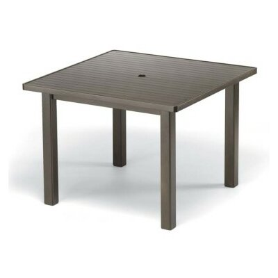 Aluminum Slat 42 Square Table