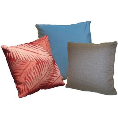 Throw Pillow Color: Stone Linen, Size: 18 H x 18 W