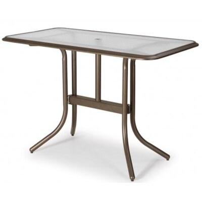 Glass Top Rectangular Bar Table