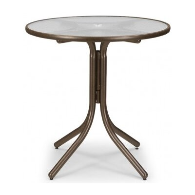 Glass 36 Round Balcony Height Dining Table