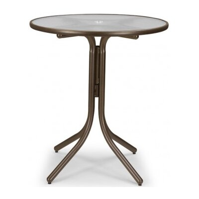 Glass 36 Round Bar Height Dining Table