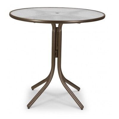 Obscure Acrylic 42 Round Bar Height Dining Table