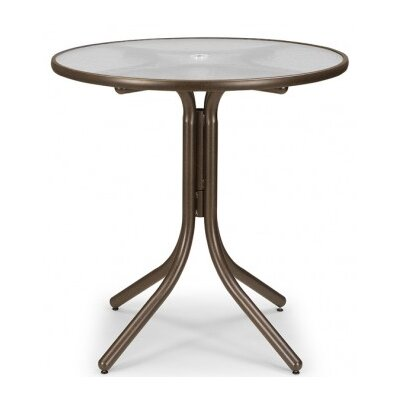 Glass 42 Round Balcony Height Dining Table