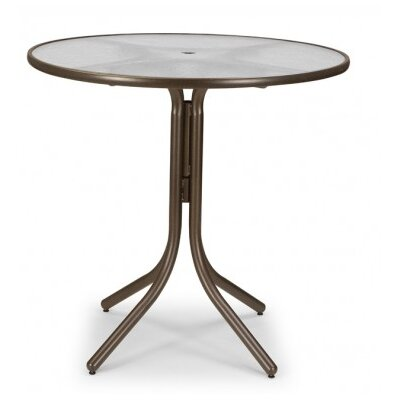 Glass 42 Round Bar Height Dining Table