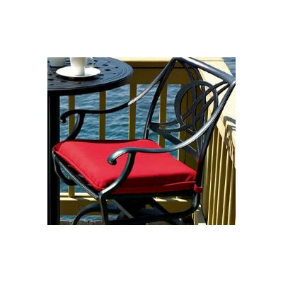 Cadiz Chair Cushion Fabric: Red