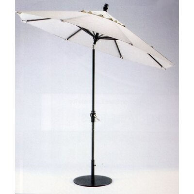 9 Market Umbrella Frame Finish: Pewter, Fabric: Strickland