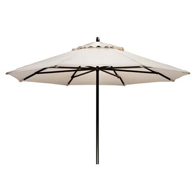 9 Commercial Market Umbrella Frame Finish: Textured Snow, Fabric: Decade