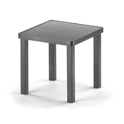 18 Square Aluminum Slat End Table Finish: Textured Graphite