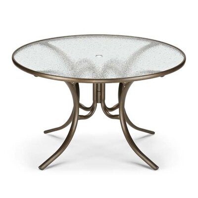 Glass Top Round Dining Table Finish: Textured Kona