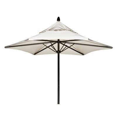 7.5 Commercial Market Umbrella Frame Finish: Gloss White, Fabric: Strickland