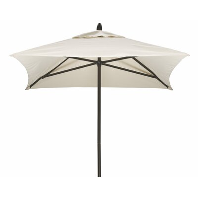 6 Square Commercial Market Umbrella Frame Finish: Textured Snow, Fabric: Strickland