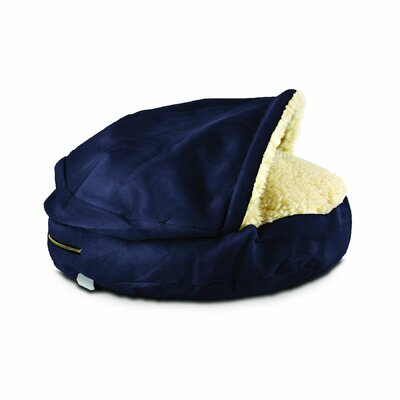 Cozy Cave Hooded Dog Bed Size: Small (25 L x 25 W), Color: Navy