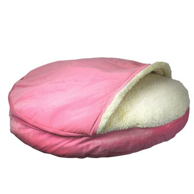 Cozy Cave Luxury Hooded Pet Bed Size: Large (35 W x 35 D), Color: Pink