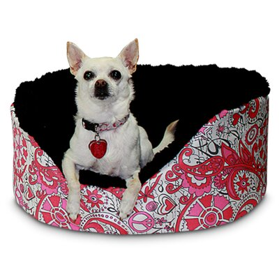 "Hippie Chic Pet Couch Size: Small - 15"" L x 11"" W, Color: Flamingo"