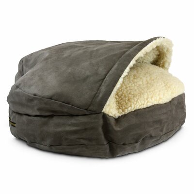 Cozy Cave Luxury Orthopedic Hooded Dog Bed Size: Small - 25 L x 25 W, Color: Dark Chocolate