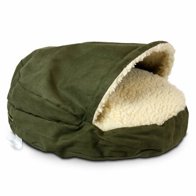 Cozy Cave Luxury Orthopedic Hooded Dog Bed Size: Large - 35 L x 35 W, Color: Olive