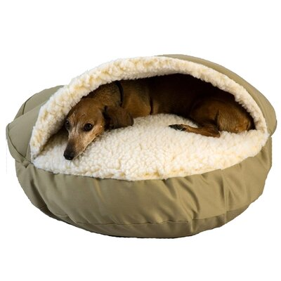 Orthopedic Cozy Cave Pet Bed Size: Small (25 L x 25 W), Color: Khaki