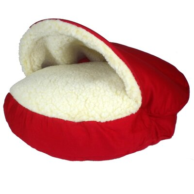 Orthopedic Cozy Cave Pet Bed Size: Small (25 L x 25 W), Color: Red