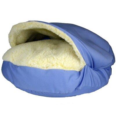 "Orthopedic Cozy Cave Pet Bed Color: Medium Blue, Size: Small - 25"" L x 25"" W"