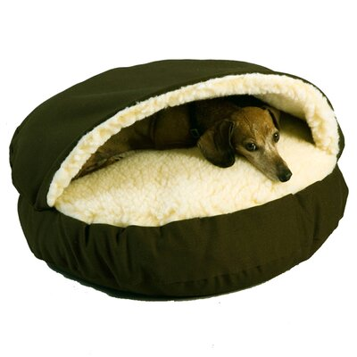 Cozy Cave Hooded Dog Bed Size: Small (25 L x 25 W), Color: Olive
