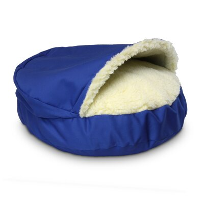 "Orthopedic Cozy Cave Pet Bed Size: Large - 35"" L x 35"" W, Color: Royal Blue"