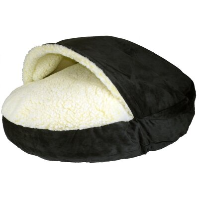 Cozy Cave Luxury Hooded Pet Bed Size: Small (25 W x 25 D), Color: Black