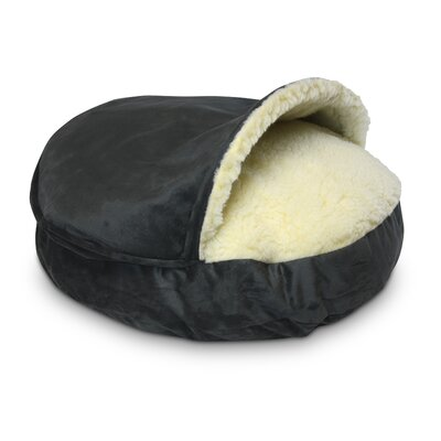 Cozy Cave Luxury Orthopedic Hooded Dog Bed Color: Anthracite, Size: Small - 25 L x 25 W