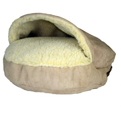 Cozy Cave Luxury Orthopedic Hooded Dog Bed Size: Small - 25 L x 25 W, Color: Buckskin