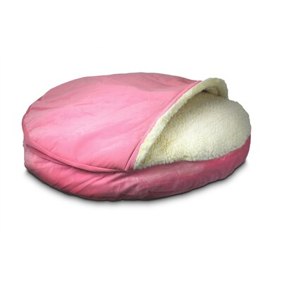 Cozy Cave Luxury Orthopedic Hooded Dog Bed Size: Small - 25 L x 25 W, Color: Pink
