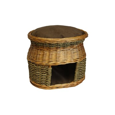 Snoozer Luxury Wicker Double Decker Cat Basket and Bed - Color: Coffee at Sears.com