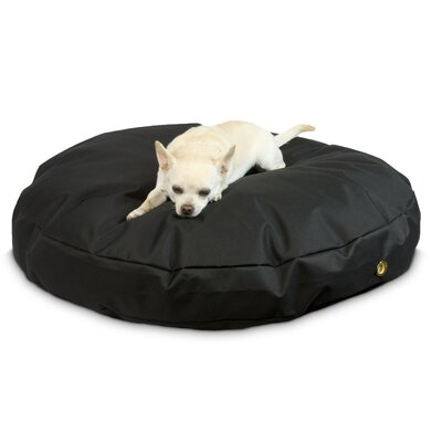 Waterproof Pet Bed Size: Small (36 W), Color: Black, Shape: Round