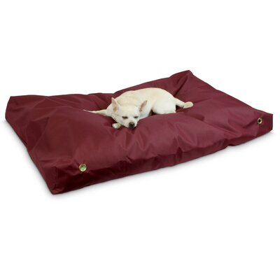 Snoozer Dog Pillow/Classic with Waterproof Covering? Size: Small (4 H x 44 W x 28 D), Color: Burgandy