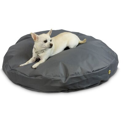 Waterproof Pet Bed Size: Large (48 W), Color: Gunmetal, Shape: Round