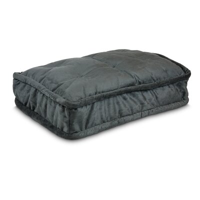 Luxury Pillow Top Pet Bed Size: Extra Large - 42 L x 30 W, Color: Anthracite