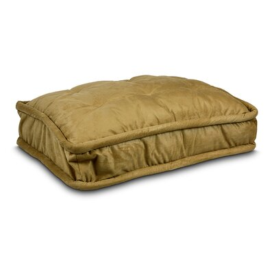 Luxury Pillow Top Pet Bed Size: Extra Large - 42 L x 30 W, Color: Camel