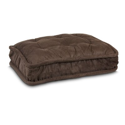 Luxury Pillow Top Pet Bed Color: Hot Fudge, Size: Extra Large - 42 L x 30 W