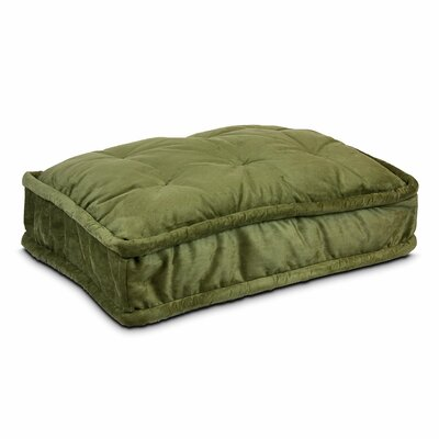 Luxury Pillow Top Pet Bed Size: Large - 36 L x 25 W, Color: Olive