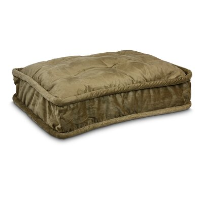Luxury Pillow Top Pet Bed Size: Large - 36 L x 25 W, Color: Peat