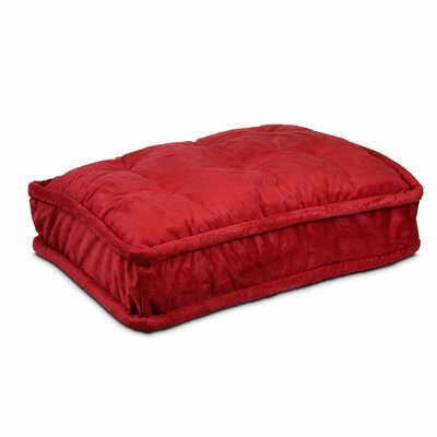 Luxury Pillow Top Pet Bed Size: Extra Large - 42 L x 30 W, Color: Red