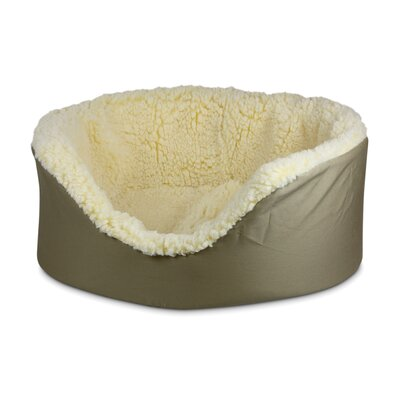 Solid Pet Couch Size: Extra Large (31 L x 26 W), Color: Khaki, Lining Color: Cream