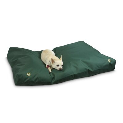 Waterproof Pet Bed Color: Green, Size: Small (36 W), Shape: Rectangular