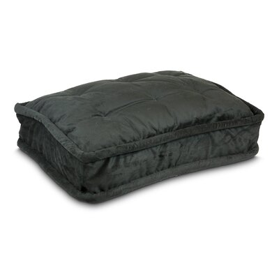 Luxury Pillow Top Pet Bed Size: Medium -  30 L x 21 W, Color: Black